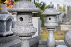 Cemitério moderno do estilo japonês imagens de stock