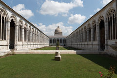Cemitério monumental - Camposanto Monumentale em Pisa fotografia de stock royalty free