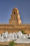 Cemitério muçulmano antigo, grande mesquita, Kairouan, Sahara Desert, foto de stock royalty free