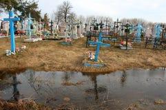 Cemitério na água Fotografia de Stock Royalty Free