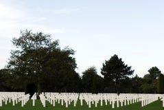 Cemitério na praia de Omaha em Normandy Fotografia de Stock Royalty Free