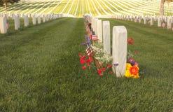 Cemitério nacional Fotos de Stock Royalty Free
