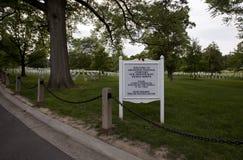 Cemitério nacional de Arlington imagem de stock royalty free