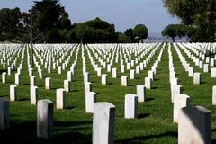 Cemitério nacional de Rosecrans do forte Fotografia de Stock