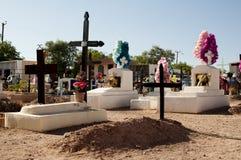 Cemitério no deserto de Atacama fotografia de stock royalty free