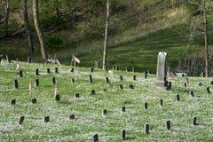 Cemitério no hospital mental imagens de stock royalty free