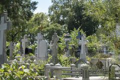 Cemitério ortodoxo cristão romeno foto de stock royalty free