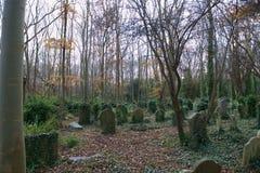 Cemitério perdido de Highgate das sepulturas imagem de stock