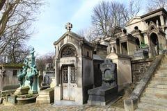 Cemitério Pere Lachaise. Imagem de Stock