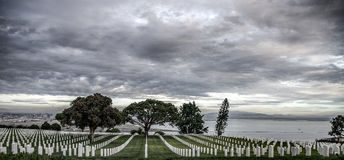 Cemitério perto do Point Loma Imagem de Stock Royalty Free