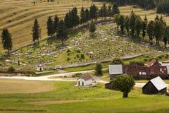 Cemitério rural Fotografia de Stock Royalty Free