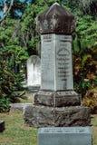 Cemitério Savannah Georgia de Cohen Cemetery Statuary Statue Bonaventure foto de stock