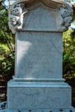 Cemitério Savannah Georgia de Dieter Cemetery Statuary Statue Bonaventure fotos de stock