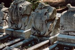 Cemitério Savannah Georgia de Dieter Cemetery Statuary Statue Bonaventure imagens de stock