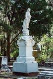 Cemitério Savannah Georgia de Dieter Cemetery Statuary Statue Bonaventure fotografia de stock royalty free
