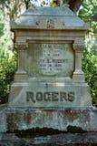 Cemitério Savannah Georgia de Rogers Cemetery Statuary Statue Bonaventure imagem de stock