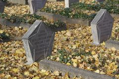 Cemitério soviético em Potsdam Imagem de Stock