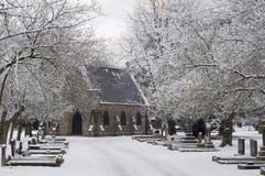 Cemitério, tempo de inverno Fotos de Stock