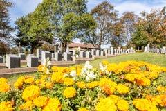 Cemitério titânico Lugar na cidade de Halifax em Canadá onde t Imagem de Stock