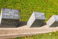 Cemitério titânico Lugar na cidade de Halifax em Canadá onde t Imagem de Stock Royalty Free