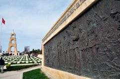Cemitério turco da guerra, Gelibolu/Gallipoli, Turquia fotografia de stock