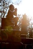 Cemitério velho com estátuas Imagens de Stock