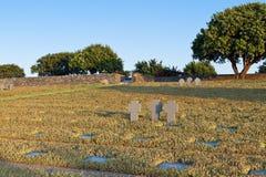 Cemitério velho de WWII no console de Crete imagem de stock