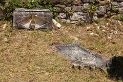 Cemitério velho dos italianos em Buje, Croácia Imagem de Stock