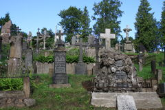 Cemitério velho em Vilnius Fotografia de Stock