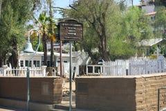 Cemitério velho na cidade velha de San Diego Foto de Stock Royalty Free