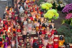 Cemitérios poloneses Fotografia de Stock Royalty Free