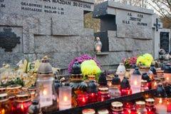Cemitérios poloneses Imagem de Stock Royalty Free