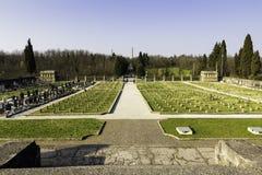 Cemitery in crespi d adda Italien Stockbild