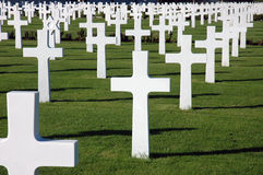 Cemitério americano da guerra Fotografia de Stock Royalty Free