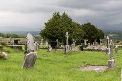 Cemitério celta velho do cemitério em ireland Fotos de Stock
