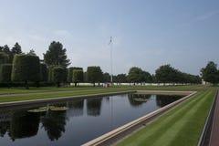 Cemitério de Normandy e memorial americanos, França Fotografia de Stock