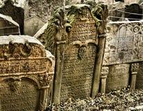 Cemitério judaico velho Foto de Stock