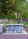 Cemitério na terra de enterro da igreja de Cristo Imagem de Stock Royalty Free
