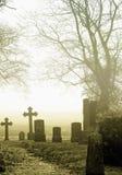 Cemitério no campo Imagens de Stock Royalty Free
