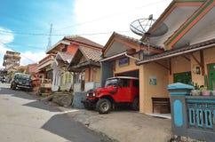 Cemoro Lawang, Indonesien - Maj 12, 2016: En sikt av den Cemoro Lawang byn nära Bromo Royaltyfri Fotografi