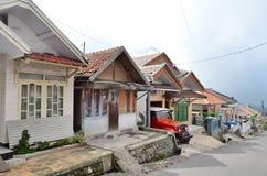 Cemoro Lawang, Indonesien - Maj 12, 2016: En sikt av den Cemoro Lawang byn nära Bromo Royaltyfria Bilder