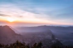 Cemoro Lawang village in Bromo Tengger Semeru National Park Royalty Free Stock Image