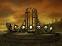 Cenário 06 da ficção científica ilustração do vetor