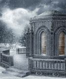 Cenário 18 do inverno ilustração royalty free