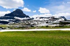 Cenário alpino no parque nacional de geleira, EUA foto de stock