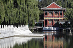 Cenário antigo do jardim de China Foto de Stock Royalty Free