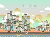 Cenário bonito da vida urbana Imagens de Stock