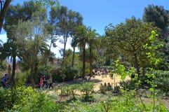 Cenário bonito de Guell do parque, Espanha Fotografia de Stock Royalty Free