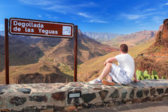 Cenário bonito de montanhas de Gran Canaria Foto de Stock