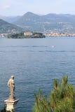 Cenário bonito do lago em Stresa Foto de Stock
